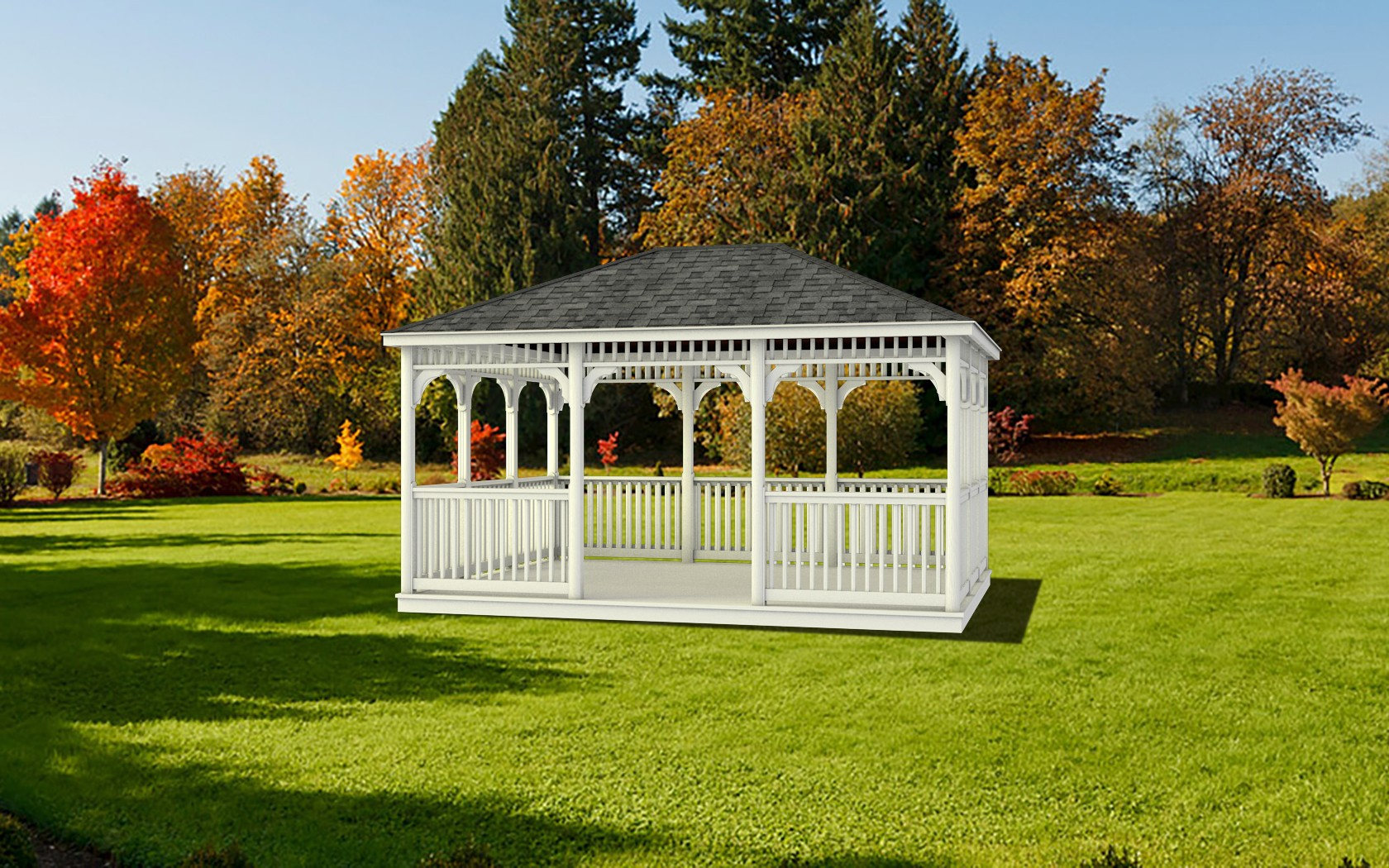 build a rectangle gazebo backyard unlimited